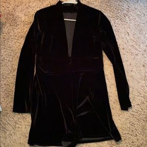 Long Sleeve express black romper, size Medium